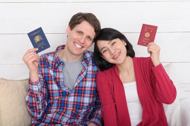 外国人夫婦